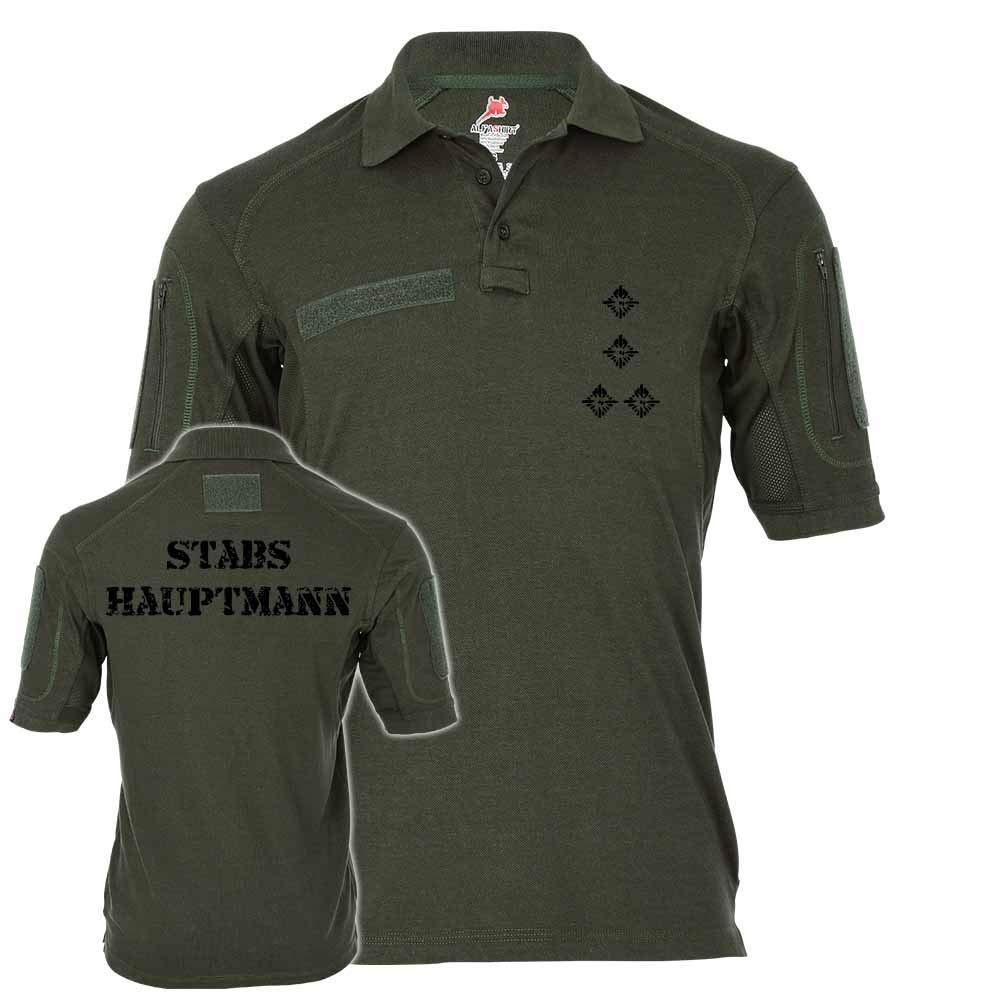 Copytec Tactical Poloshirt Alfa - Stabshauptmann Dienstgrad BW Abzeichen Offizier Truppendienst  19115