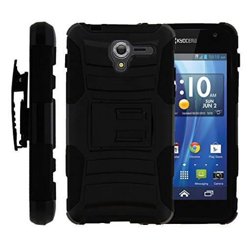 TurtleArmor | Kyocera Hydro View Case | Hydro Reach Case | Hydro Shore Case [Hyper Shock] Armor Hybrid Cover Kickstand Impact Holster Clip Sports and Games Design –