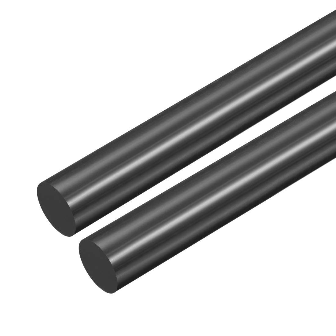 Schwarz Plastik Rundstab POM Stab Rundstange Technisch Kunststoff 21mm D sourcing map 2 Stk