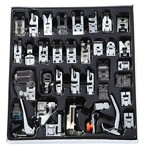 (SANGNI 35PCS Sewing Machine Foot Presser Feet Set for Singer, Baby Lock, Brother, Janome, Suitable for Machines with a Low Shank (A))