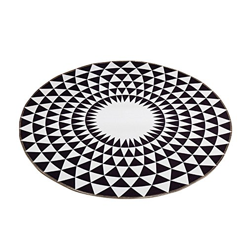 Bed front computer seat cushion / Nordic round rug / for domestic use coffee table bedroom bed side cushion / child's room crawling mat / ( Size : 160cm ) by CarPet (Image #4)