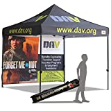 ABCCANOPY Deluxe Frame Custom Made 10×10 Ez Pop up Canopy Custom Graphics Tent with Back Wall Bouns 4x Weight Bag Review