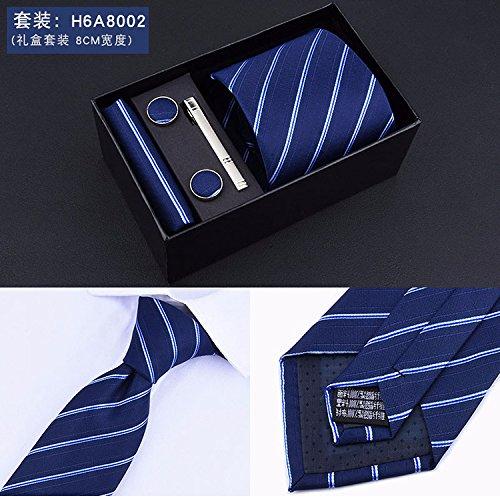QIANDONG corbata, soporte Hombre D Affari Juego de 4 puntos Caja ...