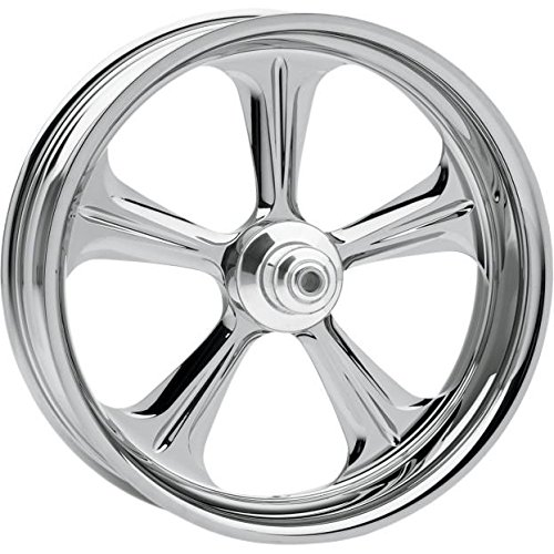 Performance Machine Wrath Chrome 21x3.5 Front Wheel (Dual Disc), Color: Chrome, Position: Front, Rim Size: 21 12047106WRAJCH