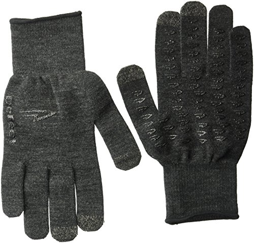 Defeet ET Dura Glove, Charcoal Wool with Black Grippies, Large