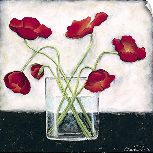 - CANVAS ON DEMAND Printed Modern Poppies I Wall Peel Art Print, 16