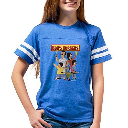 CafePress - Bob's Burger Hero Family Dark - Youth Football Shirt