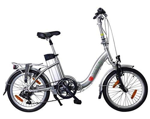 AsVIVA B7 Elektrofahrrad/Faltrad 20 Zoll - E-Bike mit 36V 11Ah Akku das Klapprad/Pedelec, silber