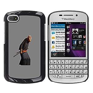 For BlackBerry Q10 Case , Old Man Martial Arts Sword - Diseño Patrón Teléfono Caso Cubierta Case Bumper Duro Protección Case Cover Funda