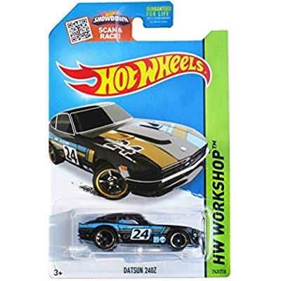 Hot Wheels 2015 HW Workshop Datsun 240Z 243/250, Black: Toys & Games