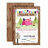 Best AW Camping Tents - Camping Themed Thank You Notes for Girls, Ten Review