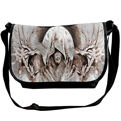 Lovebbag Monk Witch On Tree Branches Background Gothic Medieval Magic Artistic Graphic Decorative Crossbody Messenger Bag