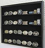 Black Finish Multi-Use Display Shadow Box For Belt Buckles Sports Cards Poker Decks