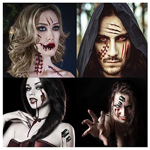 Baseball Costumes Makeup - Garma Halloween Temporary Tattoos - Scar