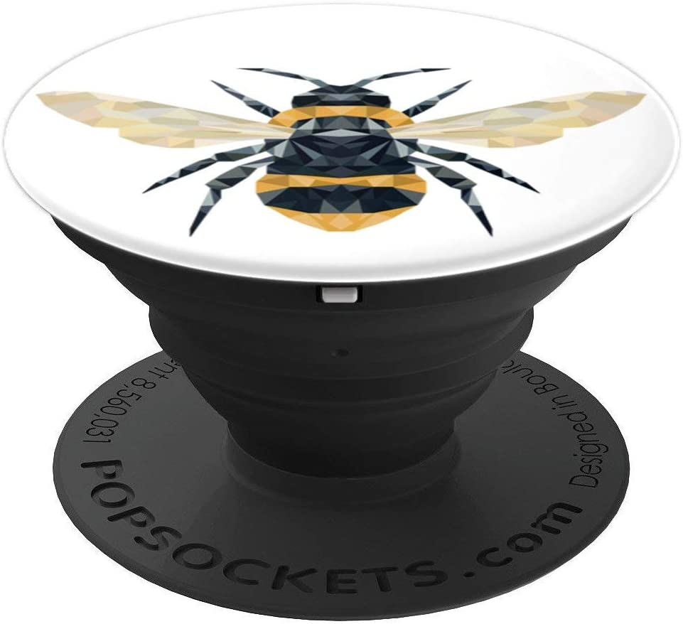 Cute Geometric Bee PopSockets Grip and Stand for Phones and Tablets