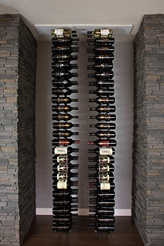 10' Deep Shelf - Ultra Wine Racks Floor-to-Ceiling Mount 1 Side, 2 Post, 2 Deep Display Bundle for 8-9ft Ceilings (Satin Black)