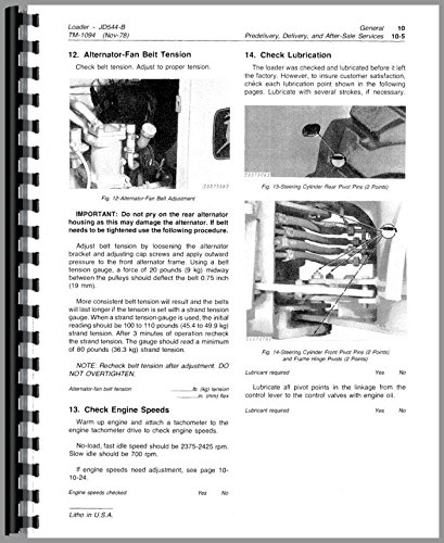 John Deere 544B Wheel Loader Service Manual PDF