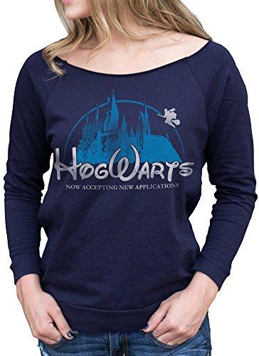 Superluxe Clothing Womens Hogwarts Castle Harry Potter Cursed Child Raglan T Shirt, XX-Large, Navy