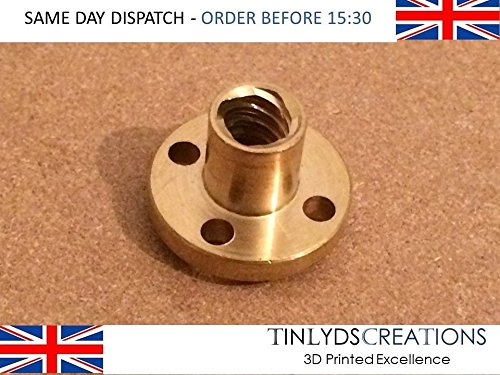 Brass Screw Nut For 8mm T8 Lead Threaded Rod CNC 3D Printer Reprap Parts Z Axis tinlydscreations