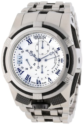 Invicta Men's 12669 Bolt Reserve Chronograph Silver Textured Dial Stainless Steel Watch (Dial Silver Reserve Textured)