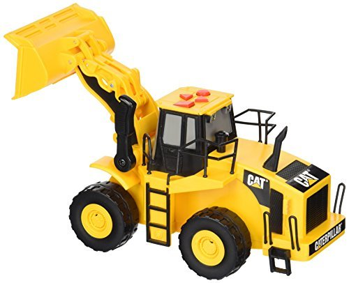 Toy State Caterpillar Big Builder Machines 34623 Toy Wheeled Loader Construction Vehicle Moving with Light / Sound Effects by (Large Caterpillar)