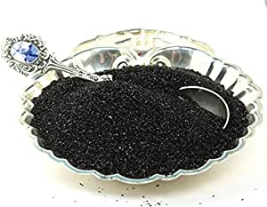 Black Imported German Glass Glitter - 1 Kilo - Fine 90 Grit (Most Popular Grain Size) Sparkly Glass Glitter - 311-9-BK