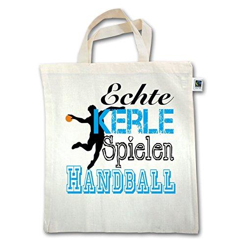 Handball - Echte Kerle Spielen Handball - Unisize - Natural - XT500 - Jutebeutel kurzer Henkel