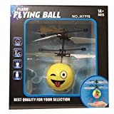 Iusun Emoji Flying Ball Infrared Sensor Hand Induced Flight Helicopter Balls RC Drone Toys Gift (C)
