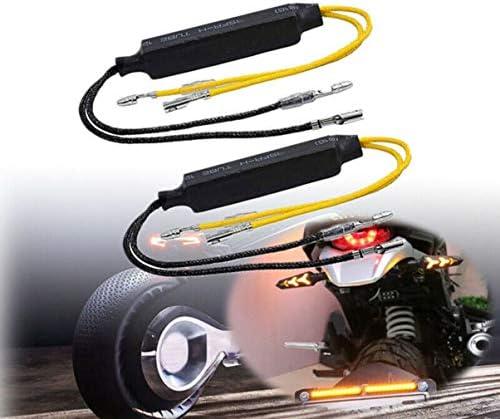 D/écodeur de moto clignotant indicateur de lumi/ère LED r/ésistance de charge d/écodeur phare d/épannage appareil noir