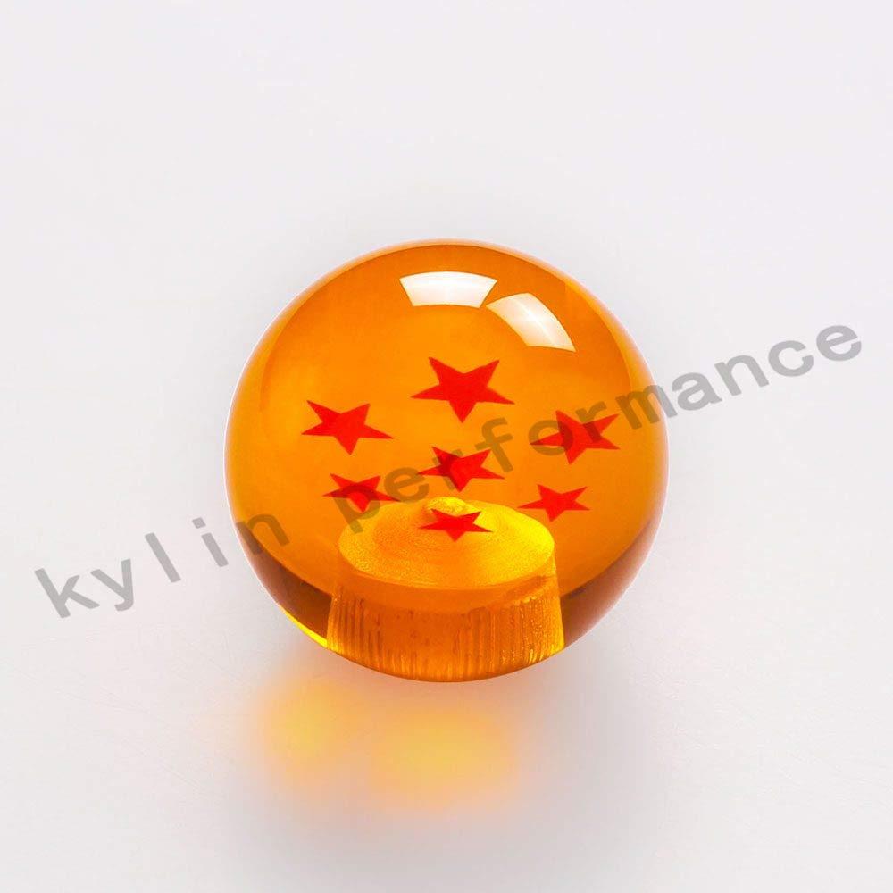 New arrived dragon ball z rare custom gear shift knob 54mm diameter 1 7 star acrylic m12x1 25 for universal car color name 7 star amazon in car