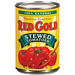 Red Gold Stewed Tomatoes 14.5 Oz (Pack of 6)
