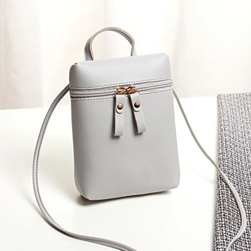 Body Handbags Mini Girls Womens Coin Inkach Small Bag Square by Gray Shoulder Chic Messenger Cross Bags Mini Purses gw1RxRqBE