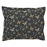 Roostery Steampunk Victorian Heart Thorn Cog Butterfly Pillow Sham