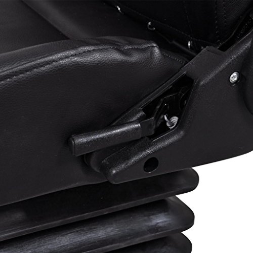 Tidyard Tractor Seat with Suspension Adjustable Waterproof with Sliding Track Black for Lawn and Garden Mowers Tractors 41.7 x 19.7 x 20.5 inch (H x W x D)