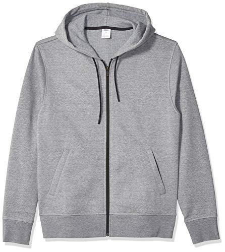 Amazon Essentials Men's Water-Repellent Thermal-Lined Full-Zip Fleece Hoodie, Grey Heather, X-Large ()