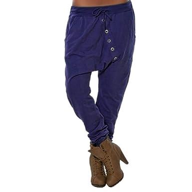 Pantalones de harén Holgados de Mujer Pantalones Casuales de Hip ...