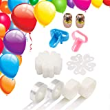 PASOCON 28 PCS Balloon Arch Garland Strip Decorating Kit, 32ft Arch Balloon Tape Strip 20PCS Flower Shape Clips 200 Dot…