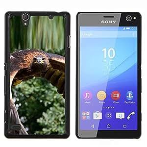 YiPhone /// Prima de resorte delgada de la cubierta del caso de Shell Armor - Flying Hawk Green Nature pájaro plumas de las alas - Sony Xperia C4