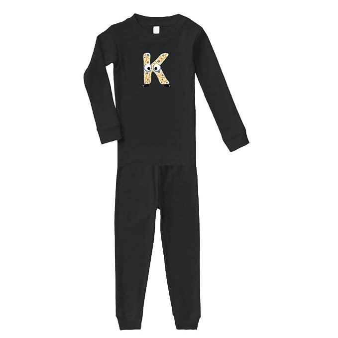 93a93b893 Amazon.com  K with Boots Letter Alphabet Cotton Long Sleeve Crewneck ...