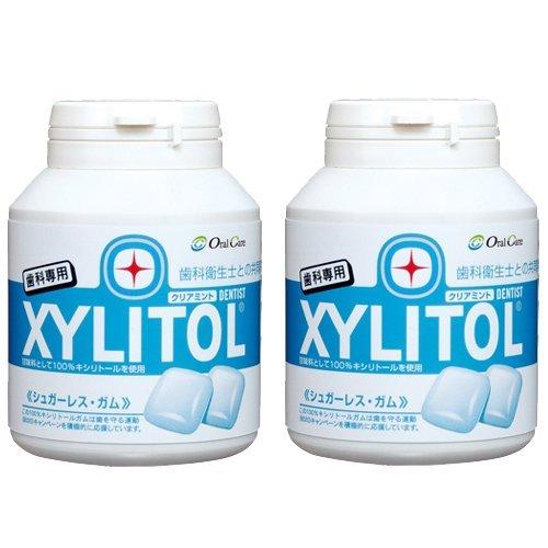 【【オーラルケア】【歯科専用】 キシリトールガム ボトルタイプ 90粒×2本セット (クリアミント)