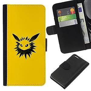 All Phone Most Case / Oferta Especial Cáscara Funda de cuero Monedero Cubierta de proteccion Caso / Wallet Case for Apple Iphone 5C // Poke Monster Yellow