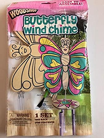The Wood Shop Woodshop Wind Chime (Butterfly)