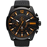 Diesel SUMMER 2013 dz4291 49mm Stainless Steel Case Black Calfskin Mineral Men's Watch