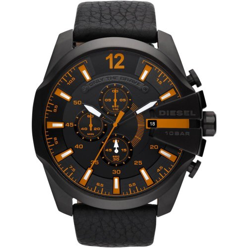 Diesel SUMMER 2013 dz4291 49mm Stainless Steel Case Black Calfskin Mineral Men's Watch by Diesel