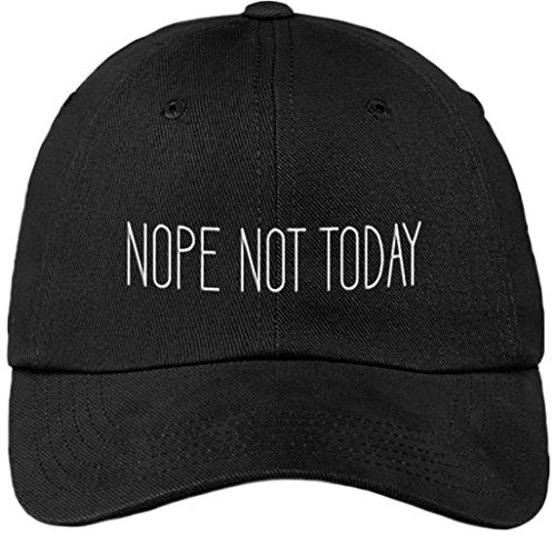 Sports Accessory Store Nope Not Today Funny Black Baseball Cap Hat Adjustable Unisex -