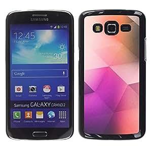 Patrón Poli Arte Polígono Color Purple - Metal de aluminio y de plástico duro Caja del teléfono - Negro - Samsung Galaxy Grand 2