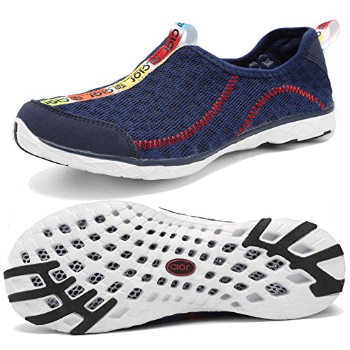 CIOR Men's and Women's Lightweight Mesh Slip-on Water Shoes,SLS01,D.Blue40 (Sneakers Summer)