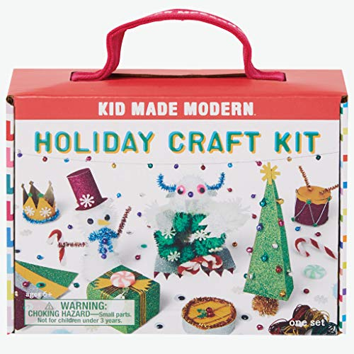 Kid Made Modern Holiday Craft Kit - Handmade Festive Decorations and Gifts, Arts and Crafts Supplies