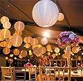 Good 50 Led Ball Lamps Balloon Light for Lantern Wedding Party Decoration White OSB