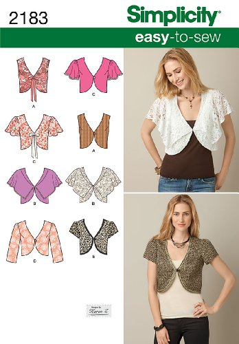 Simplicity Easy to Sew by Karen Z Pattern 2183 Misses Vest or Jacket with Variation Size 6-8-10-12-14 Easy To Sew Crafts